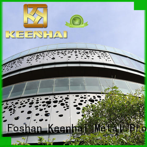 Keenhai cut decorative metal screen panels from China for construction projects