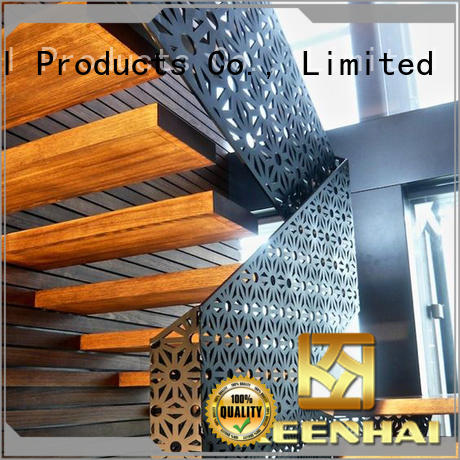 partition metal screen partition from China for stairway