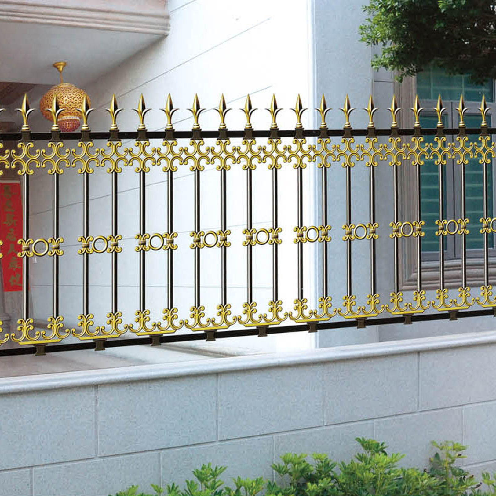 Customized Aluminum Garden Fence For Courtyard