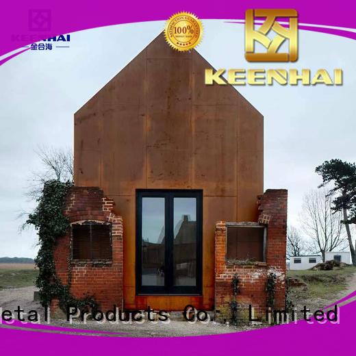 cladding corten steel panels wall for interior decoration Keenhai
