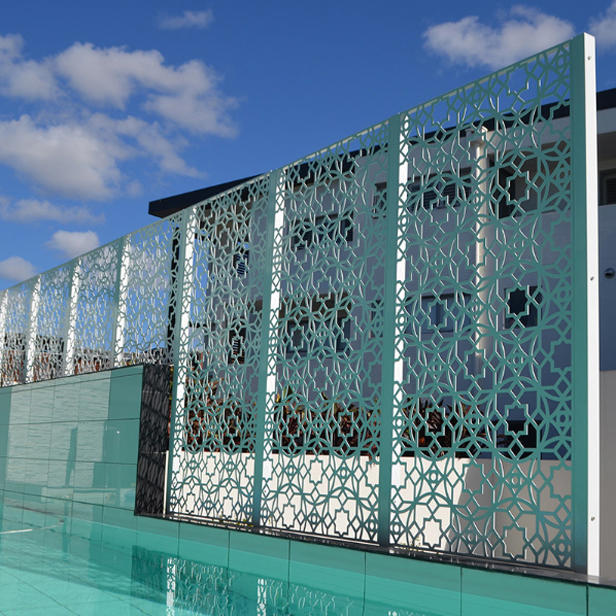 Architectural Hollow Out Outdoor Metal Screen Divider