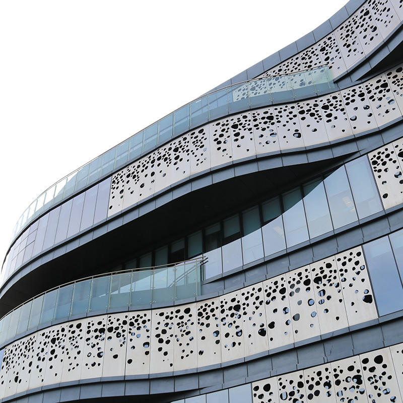 Building facade materials Aluminum Perforated panel