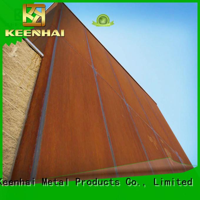 Keenhai standardized corten cladding steel for indoor decoration