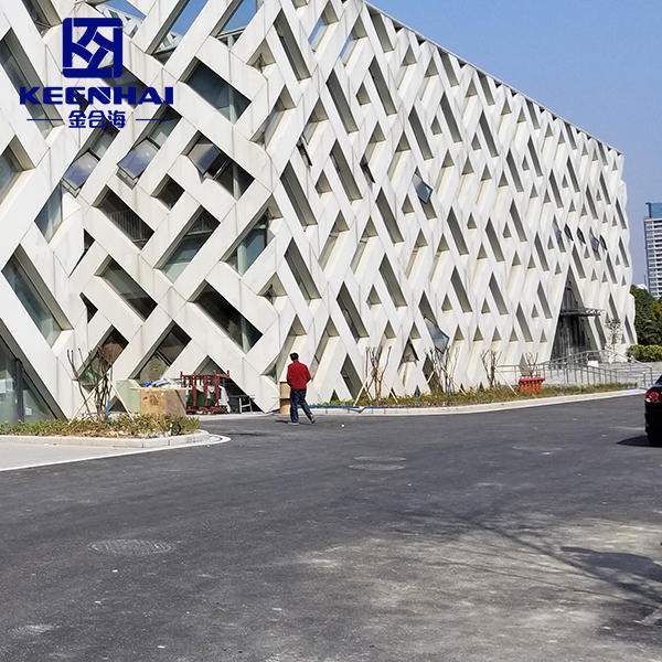 Facade Cladding Panel Aluminum Hollow Out Design