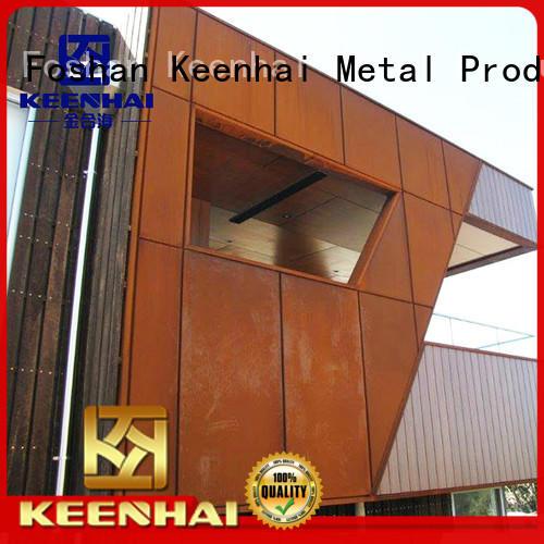cladding corten steel wall panels supplier for interior decoration Keenhai