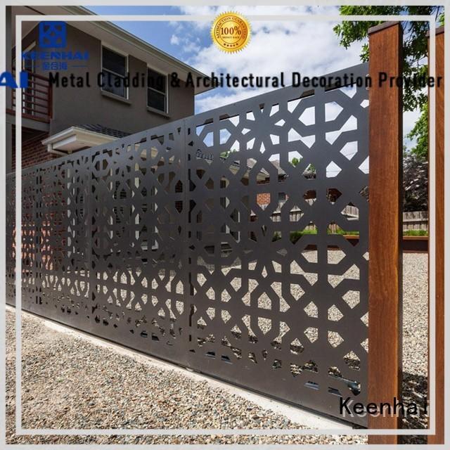 Keenhai Brand customized decorative metal driveway gate
