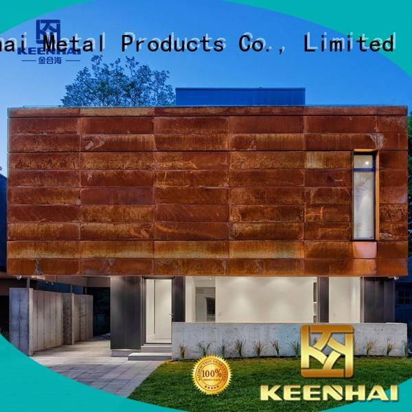 Keenhai delicate corten cladding cladding for indoor decoration