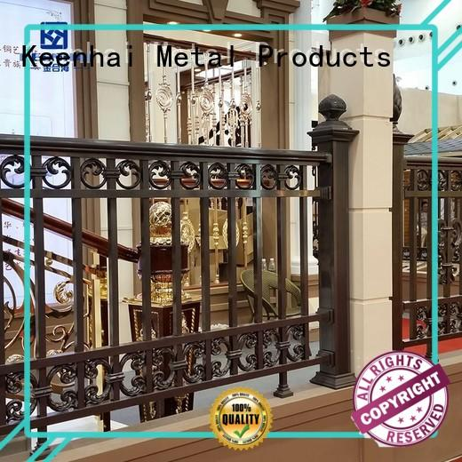 metal solid perforated courtyard garden fence & gate Keenhai