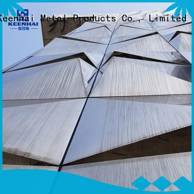 sturdy construction stainless steel cladding design for hotel