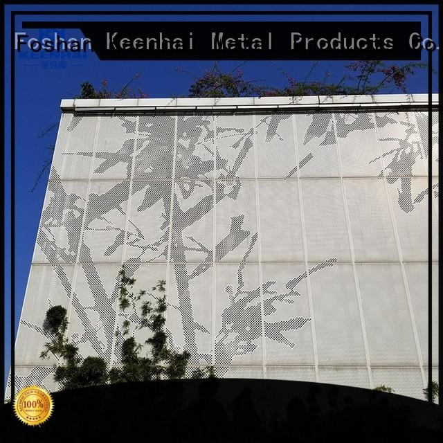 Keenhai simple installation Aluminum perforated panel solution for exterior protection