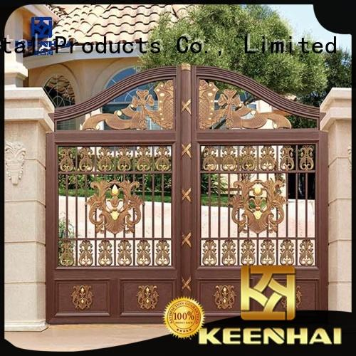 customized metal driveway gate supplier for garden