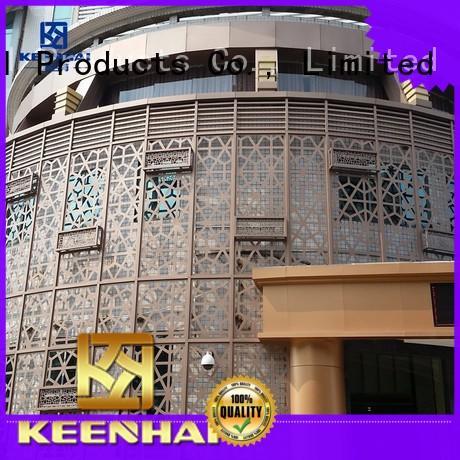 Keenhai elegant design outdoor wall decor metal supplier for villa