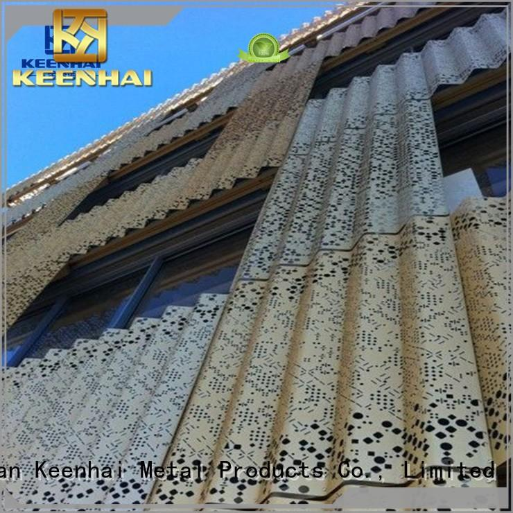 Keenhai sturdy construction corrugated metal roofing design for hotel