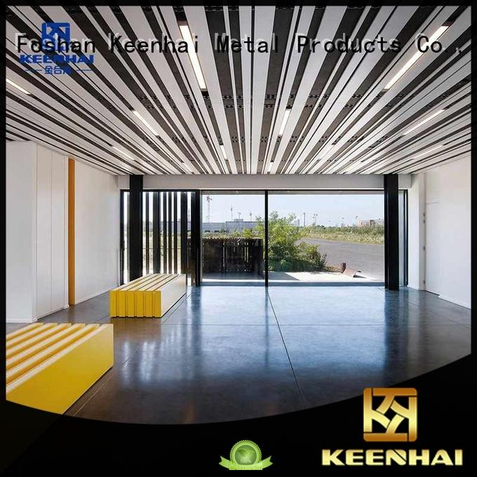 Keenhai decoration strip metal ceiling fast shipping for hotel