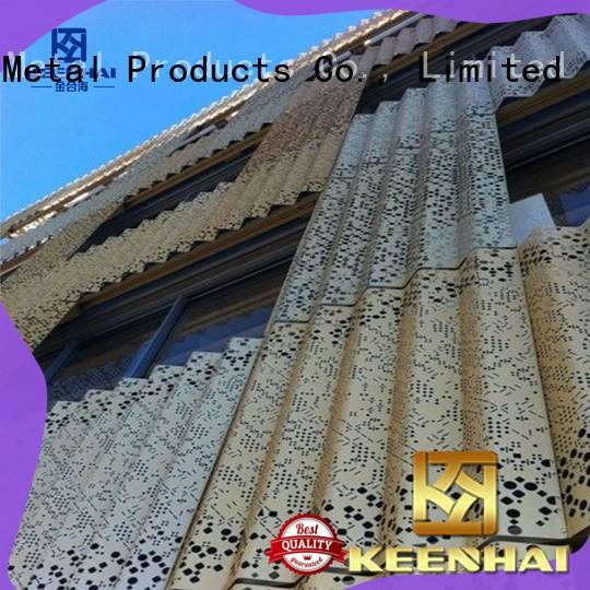 Keenhai metal corrugated wall panels fabrication for decoration