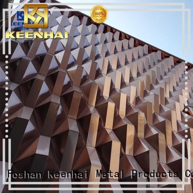 simple installation 3d wall decor for building facades Keenhai