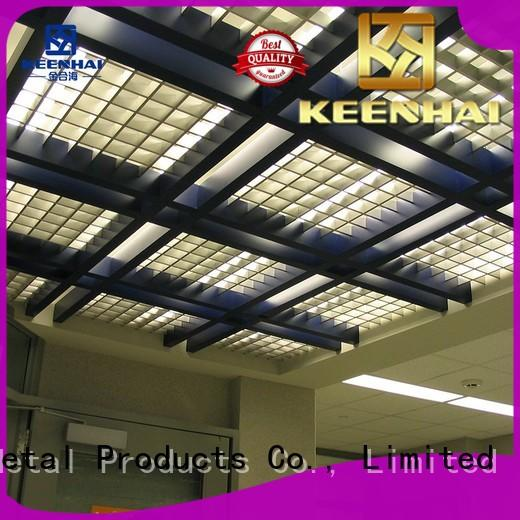 Keenhai metal grille ceiling supplier for factories