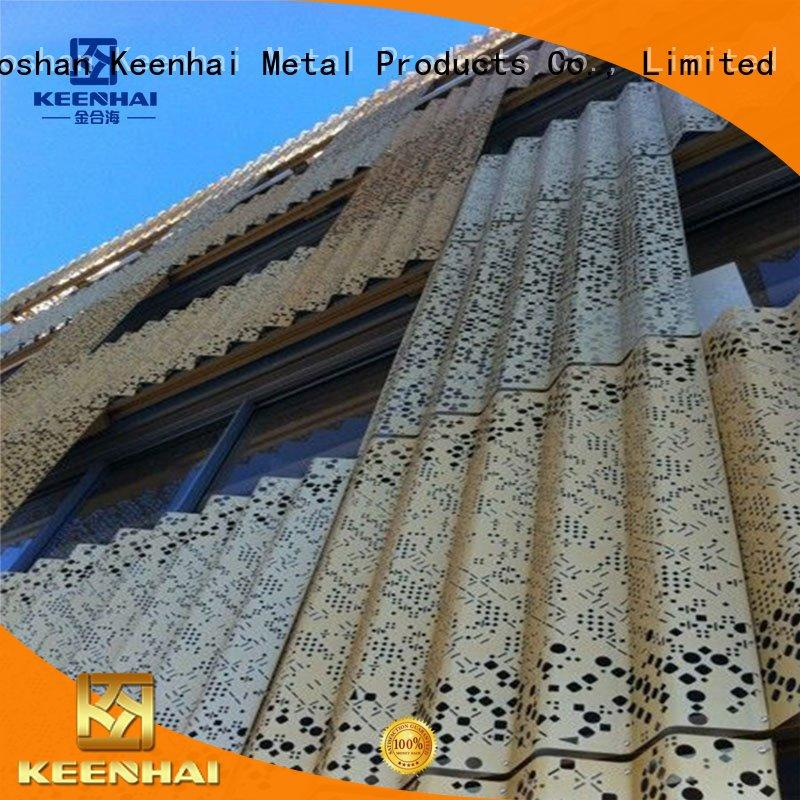 cladding corrugated wall panels for hotel Keenhai