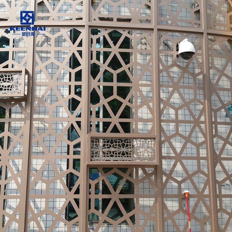 Aluminum Laser Cut Exterior Wall Decoration