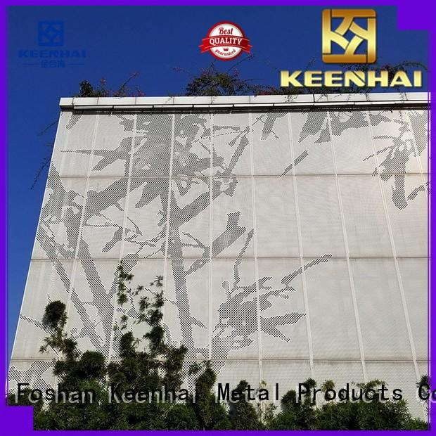 Keenhai strong packing perforated metal sheet installation for villa