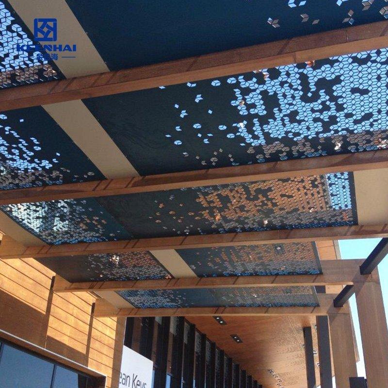 Aluminum perforated ceiling panel