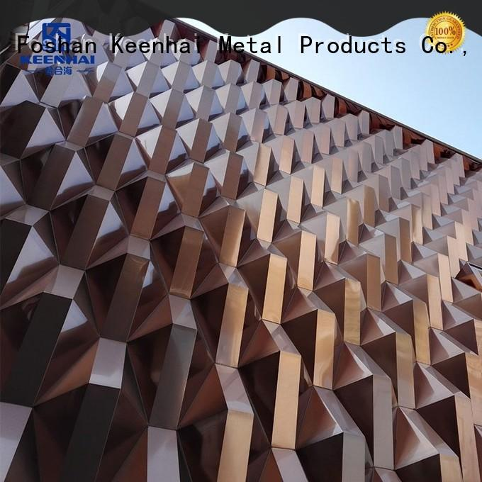 high quality pvdf aluminium facade manufacturer for decoration